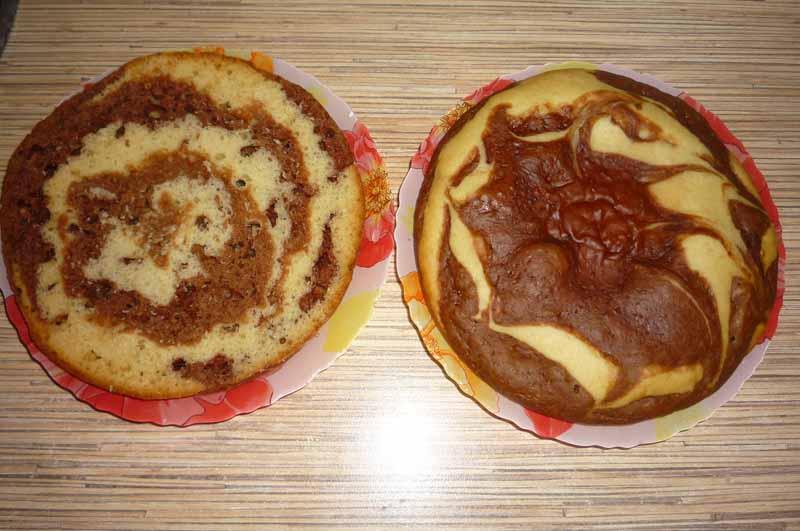 Зебра пирог с молоком рецепт
