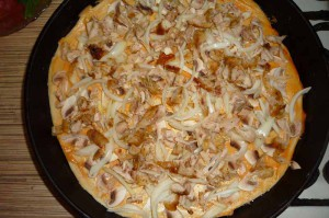 Как приготовить пиццу из слоеного теста