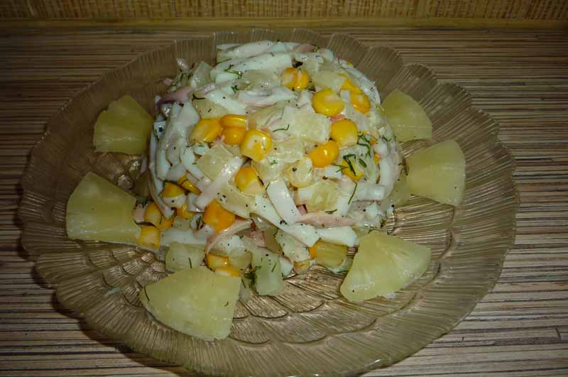 Салат нежность с огурцом курица рецепт с
