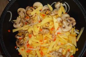 Жаркое с грибами