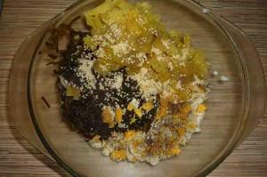 Салат с морской капустой и кукурузой
