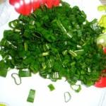 Блины с луком зеленым