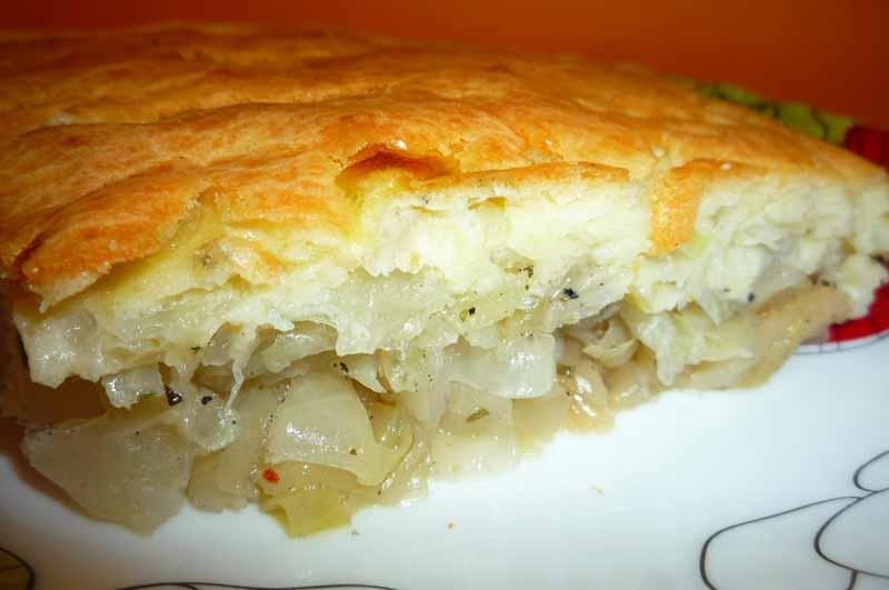 Ленивый пирог с капустой